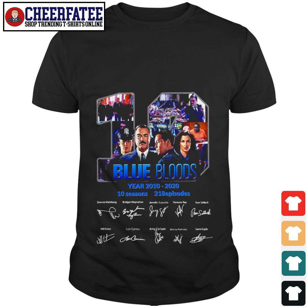 19 Blue Bloods Year 2010 2020 Signatures Shirt - 1