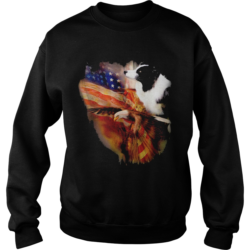 Border Collie American Wings Independence Day shirt - 4