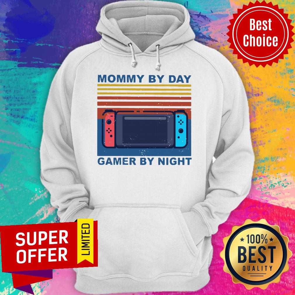Funny Nintendo Switch Mommy By Day Gamer By Night Vintage Shirt - 3