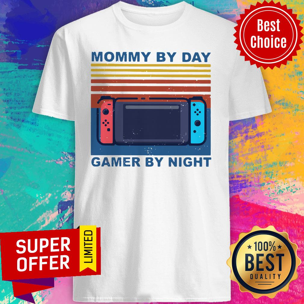 Funny Nintendo Switch Mommy By Day Gamer By Night Vintage Shirt - 1