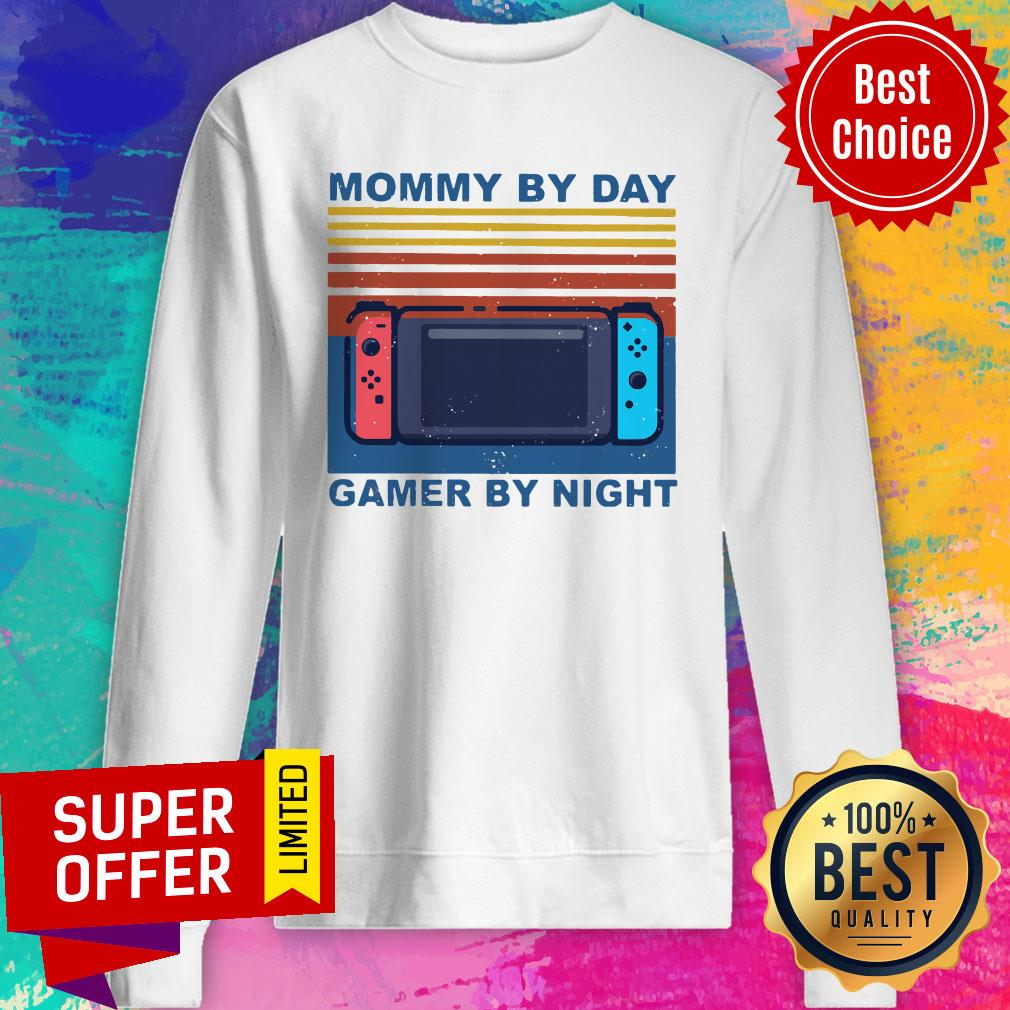 Funny Nintendo Switch Mommy By Day Gamer By Night Vintage Shirt - 2