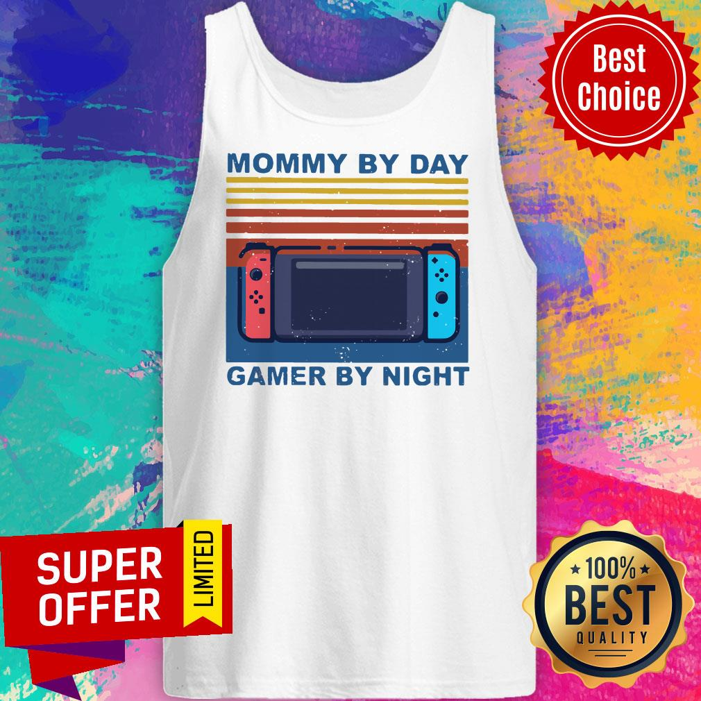 Funny Nintendo Switch Mommy By Day Gamer By Night Vintage Shirt - 5