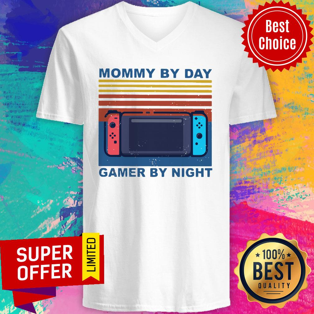 Funny Nintendo Switch Mommy By Day Gamer By Night Vintage Shirt - 4