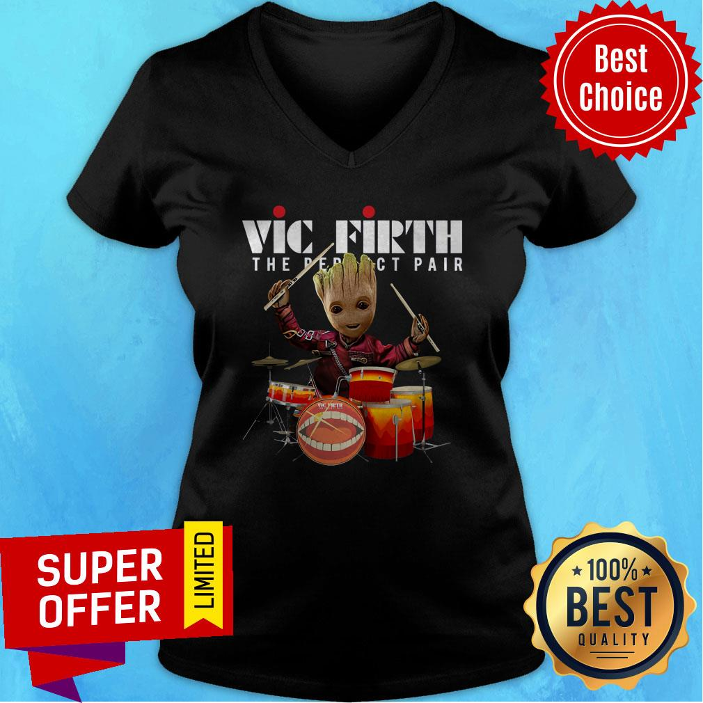 Nice Baby Groot Vic Firth The Perfect Pair Shirt - 4