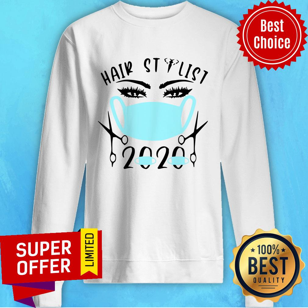 Official Blue Hair Stylist 2020 Face Mask Shirt - 2