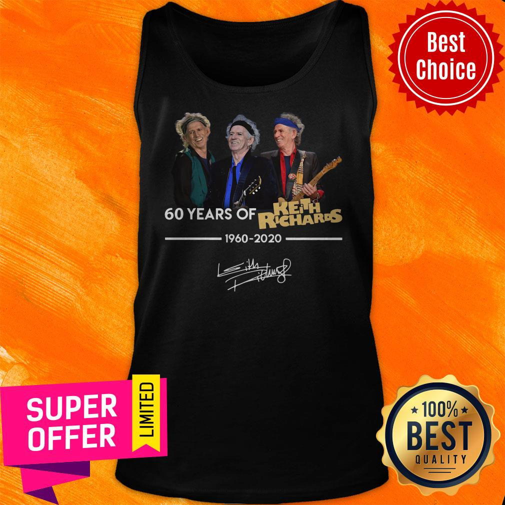 Funny 60 Years Of Keith Richards 1960 2020 Signature Shirt - 5