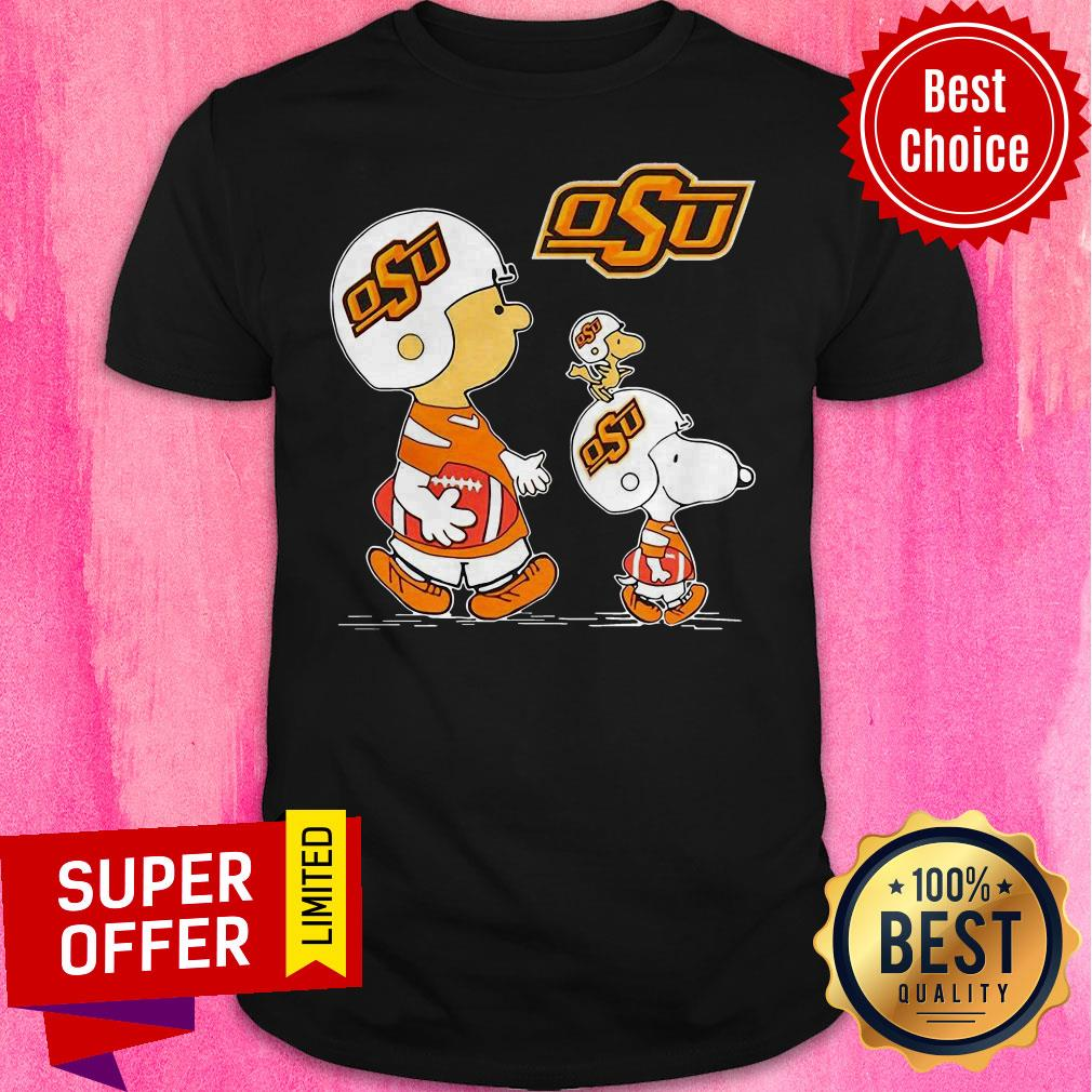 Top Charlie Brown Snoopy And Woodstock OSU Shirt - 1