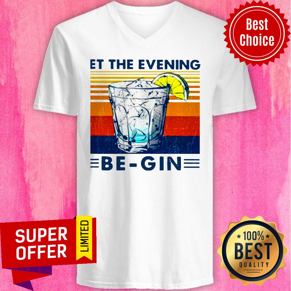 Premium Wine Let The Evening Be-gin Vintage Shirt - 4