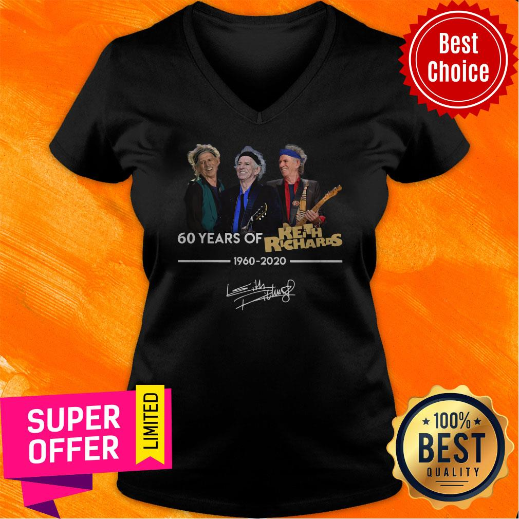 Funny 60 Years Of Keith Richards 1960 2020 Signature Shirt - 4