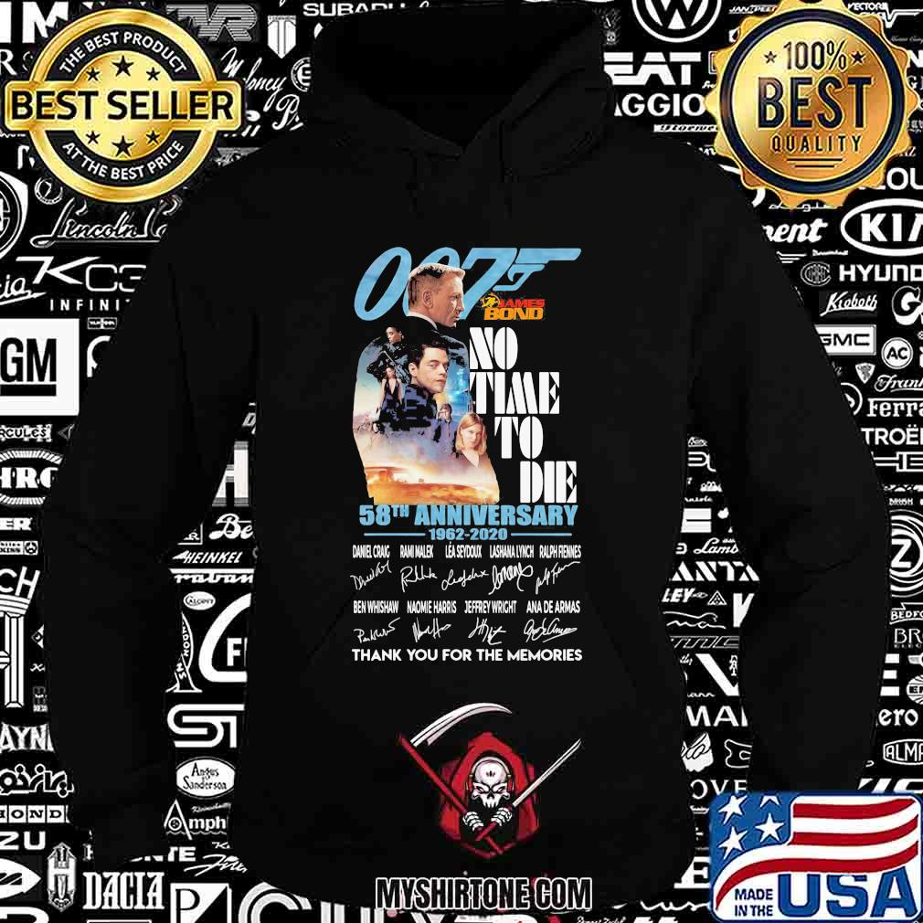 007 no time to die 58th anniversary 1962 2020 thank for the memories signatures s Hoodie