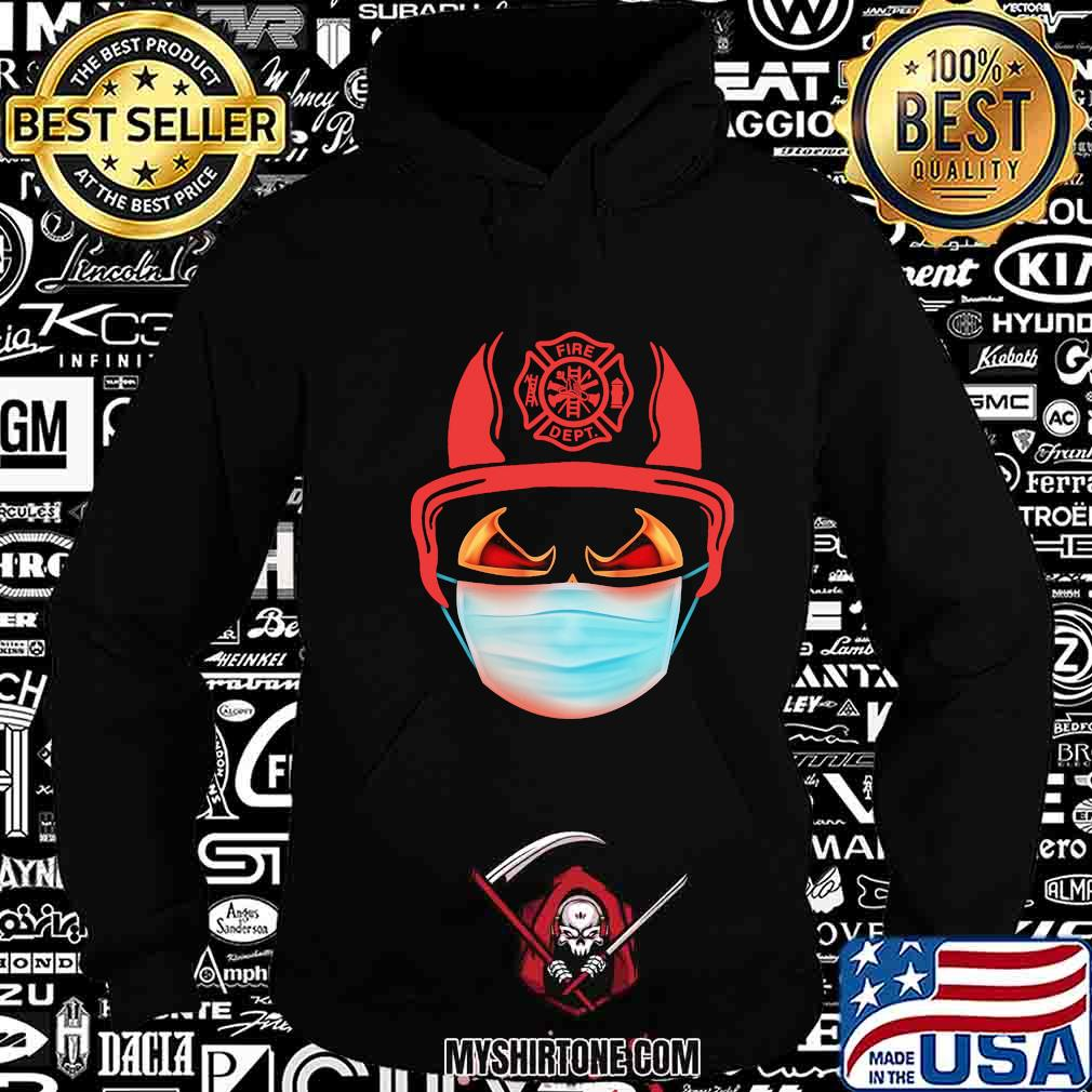 Fire dept logo mask shirt