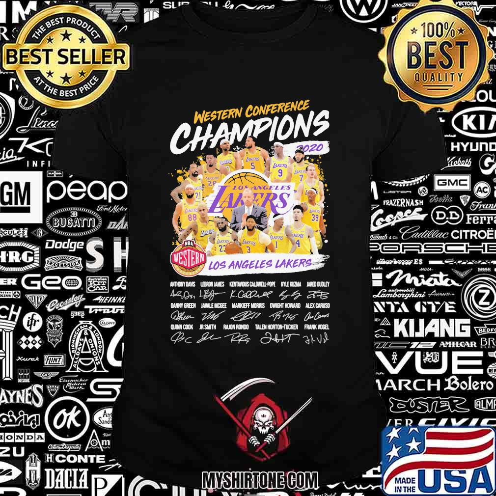 Western conference champions los angeles lakers signatures shirt