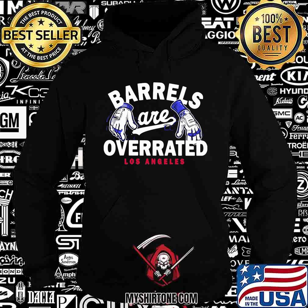 Barrels are overrated los angeles baseball shirt