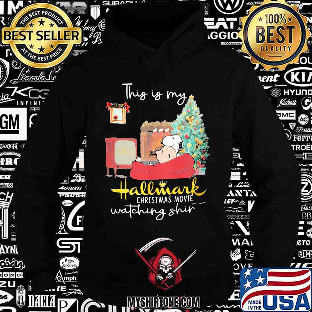 Charlie brown and snoopy this is my hallmark christmas movies watching shirt