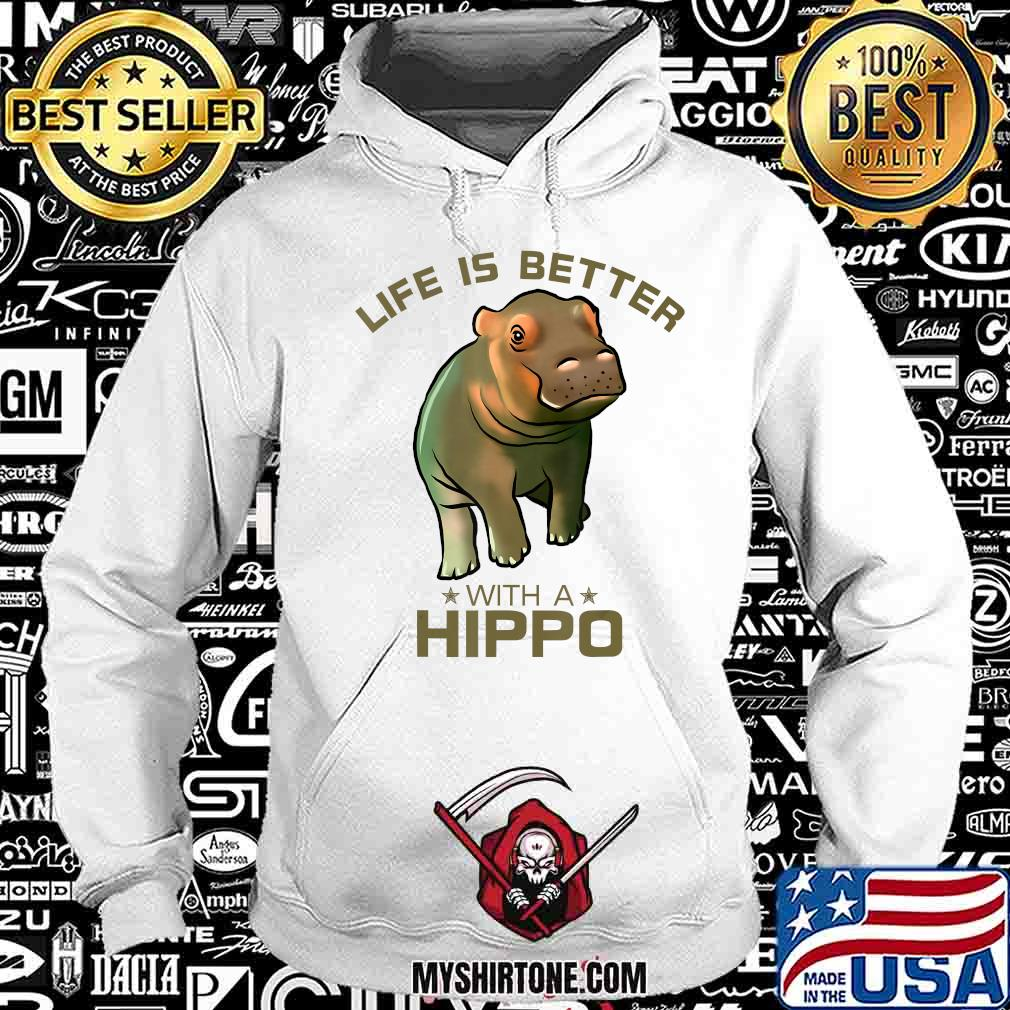 Colorful Life Is Better With A Hippo Cute Wild Animal Lover T-Shirt Hoodie