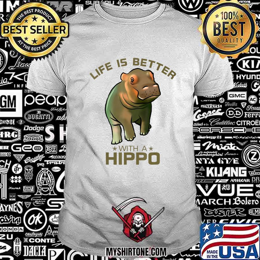 Colorful Life Is Better With A Hippo Cute Wild Animal Lover T-Shirt