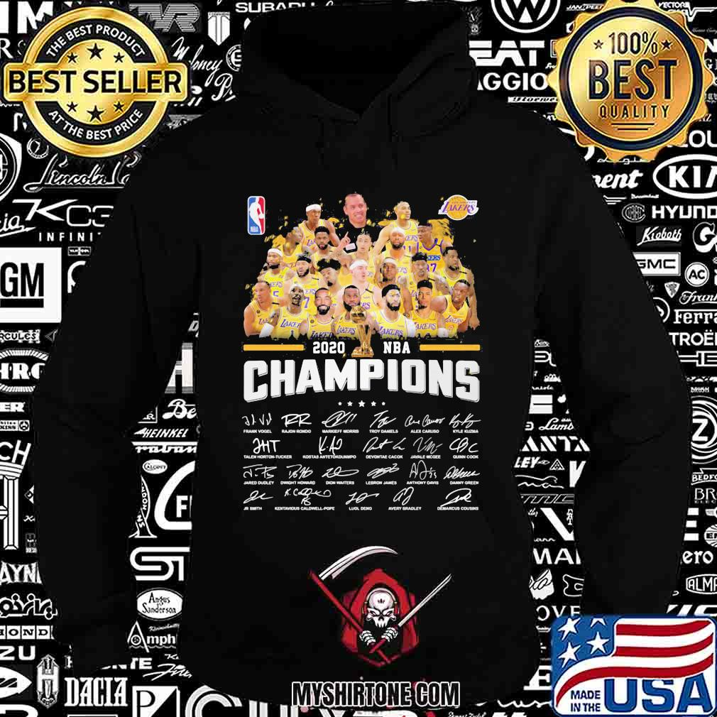 Los angeles lakers nba finals champions thank for the memories signatures shirt
