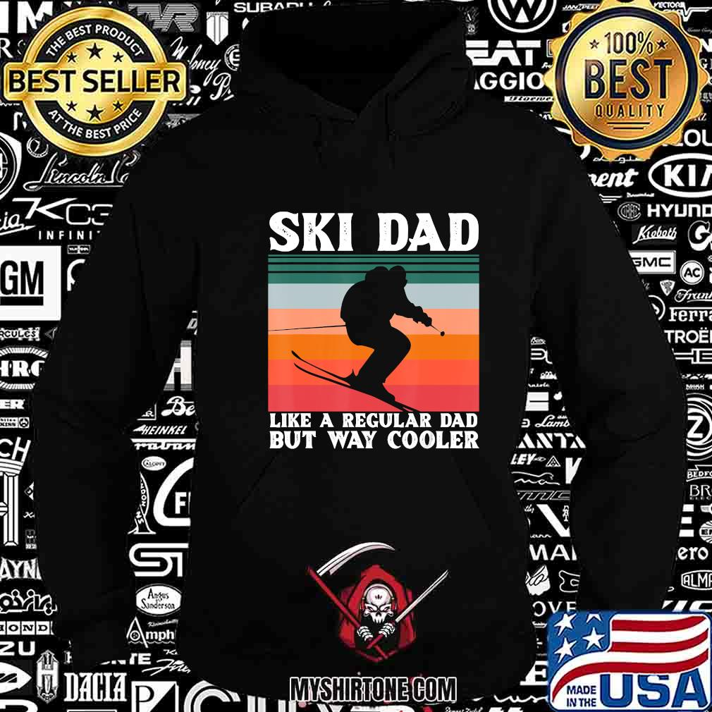 Mens Ski Dad Winter Ski Downhill Snowboarding Fathers Day Gift T-Shirt