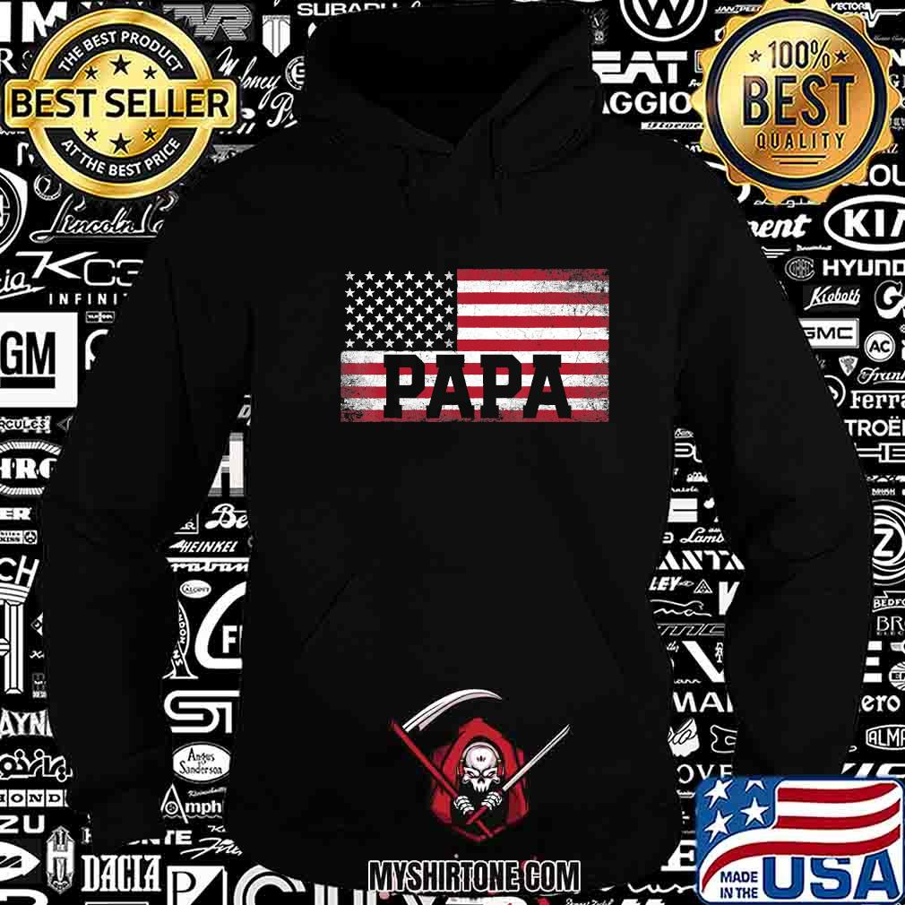 Papa american flag father's day 4th of july shirt