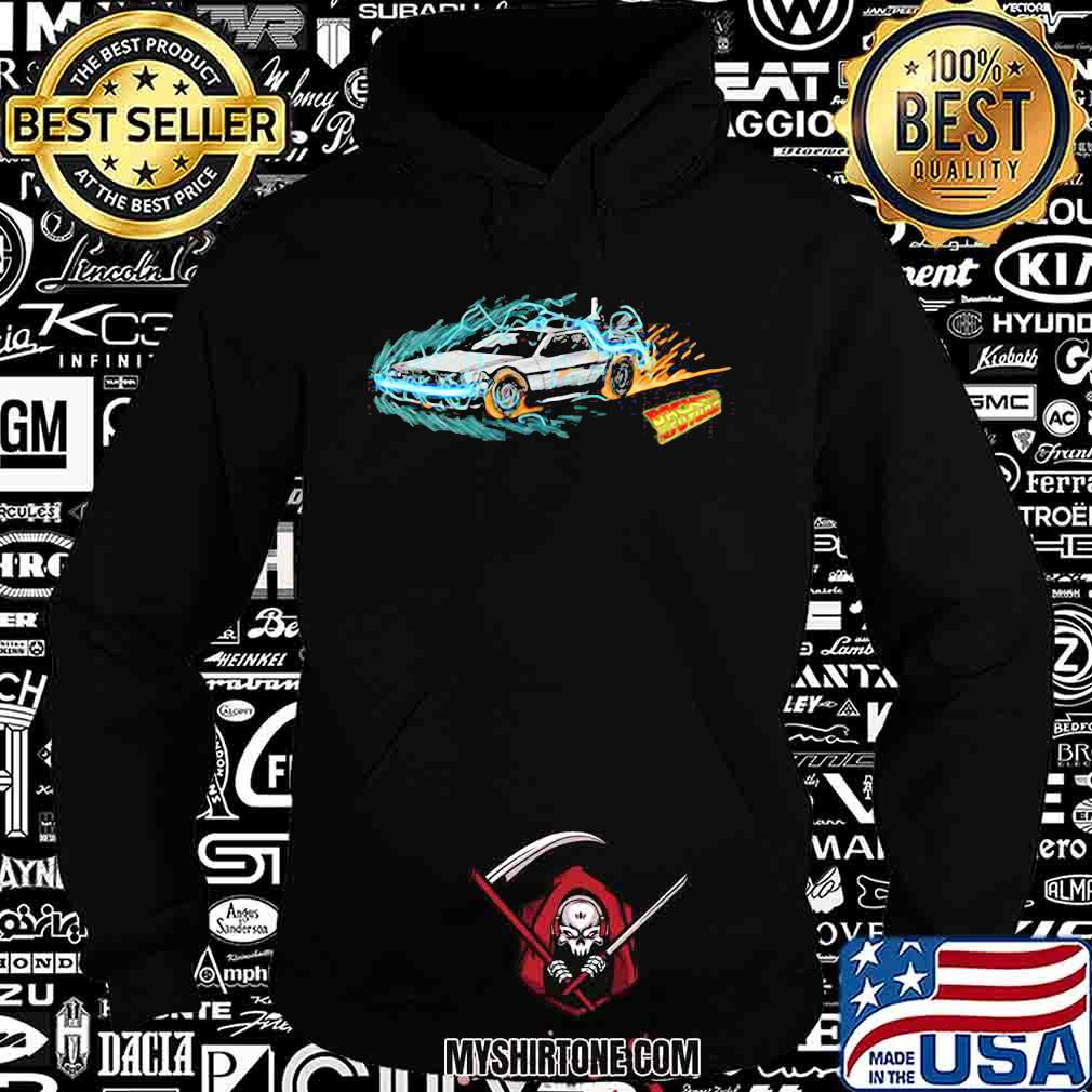 Speeding through time back to the future fire shirt