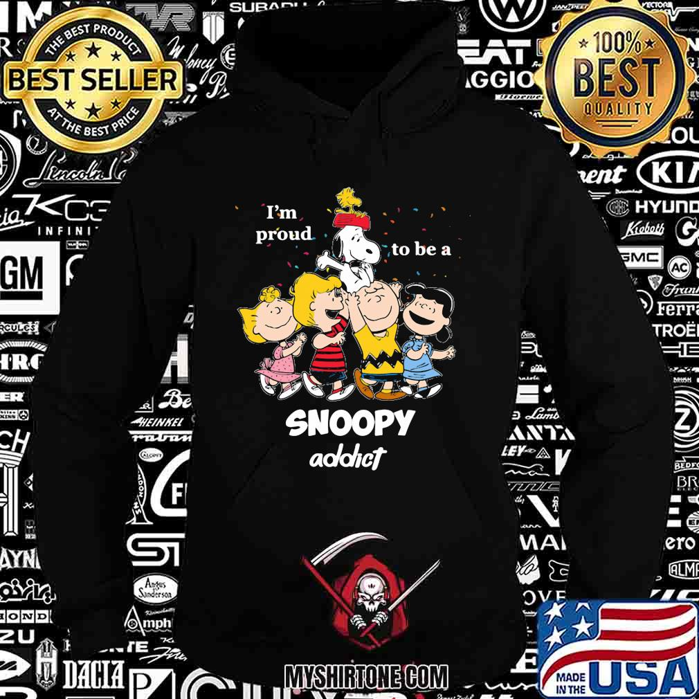 The peanuts i'm proud to be an snoopy addict shirt