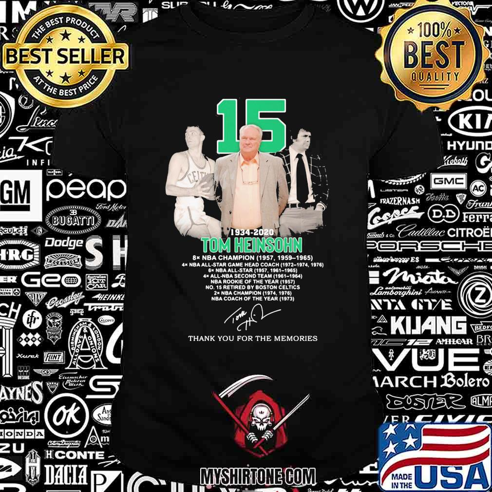 15 1934 2020 tom heinsohn thank you for the memories signature shirt