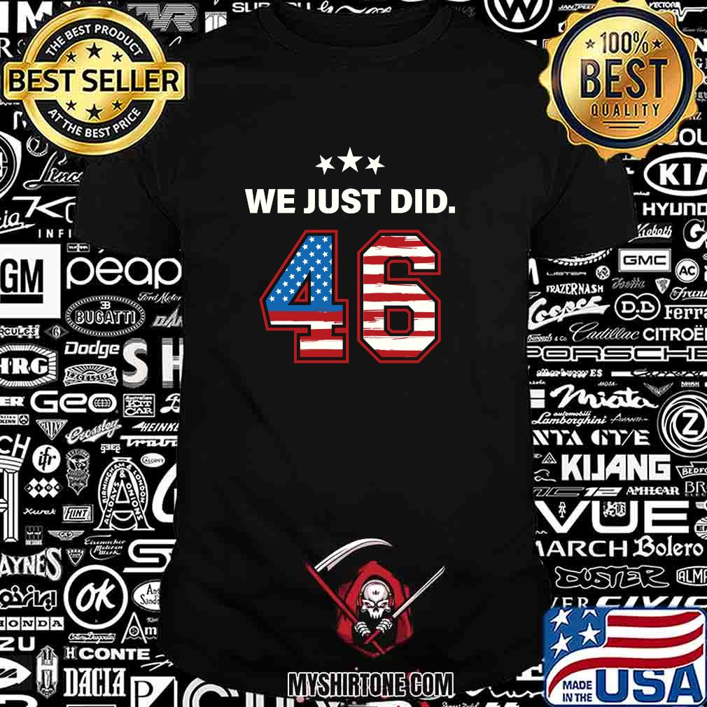 We just did 46 american flag stars shirt