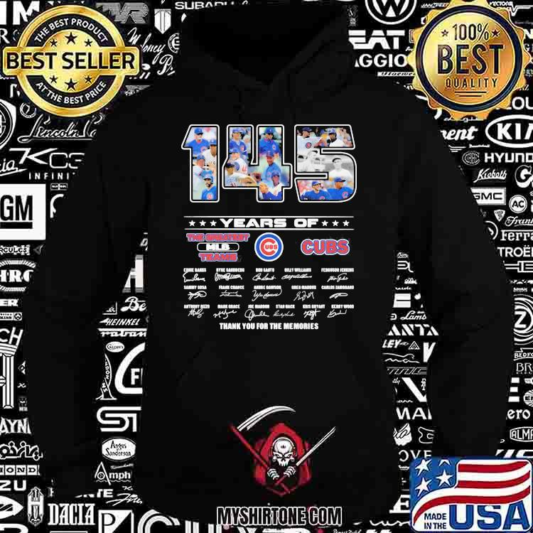 145 Years Of Chicago Cubs Thank You For The Memories Signature Shirt Hoodie