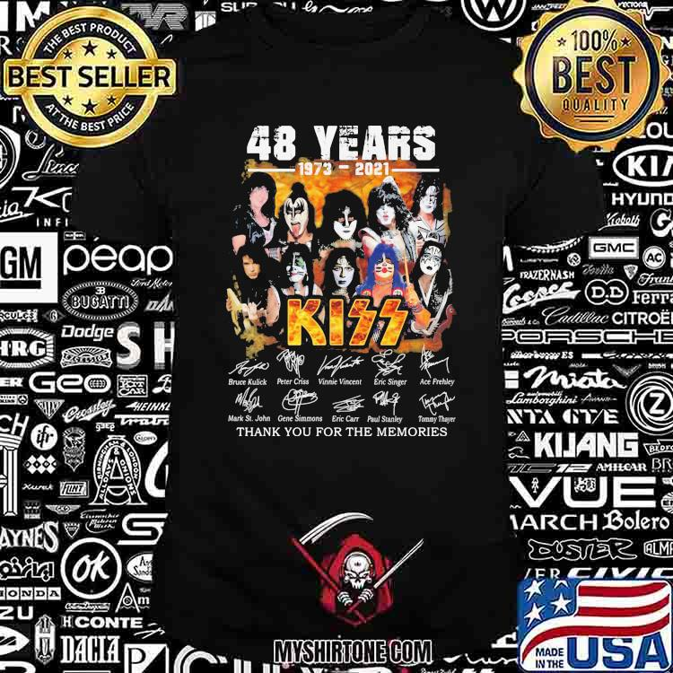 48 Years 1973 2021 Thank You For The Memories Signature Shirt