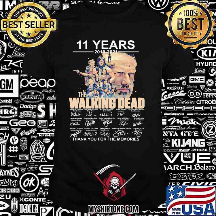 11 Years 2010 2021 The Walking Dead Thank You For The Memories Signature Shirt