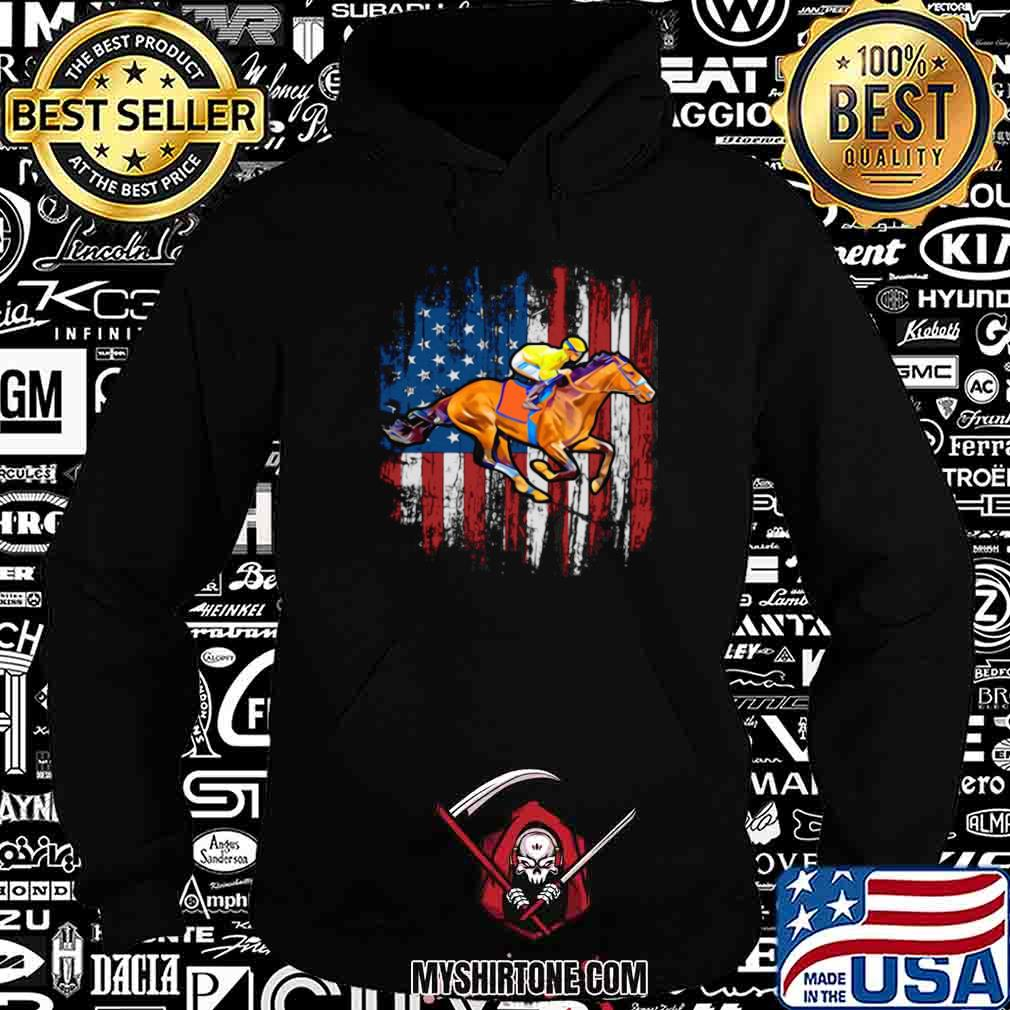 American Flag Horse Racing shirt - Copy Hoodie