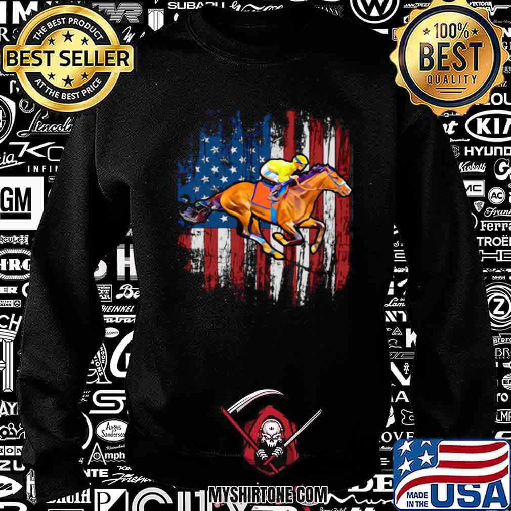 American Flag Horse Racing shirt - Copy Sweatshirt