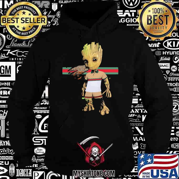 Baby Groot Wear Clothes Of Gucci Shirt Hoodie