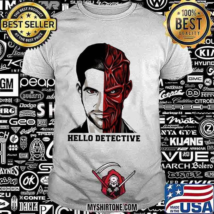 Fancy Hello Detective Men And Evil One Person Horror Shirt