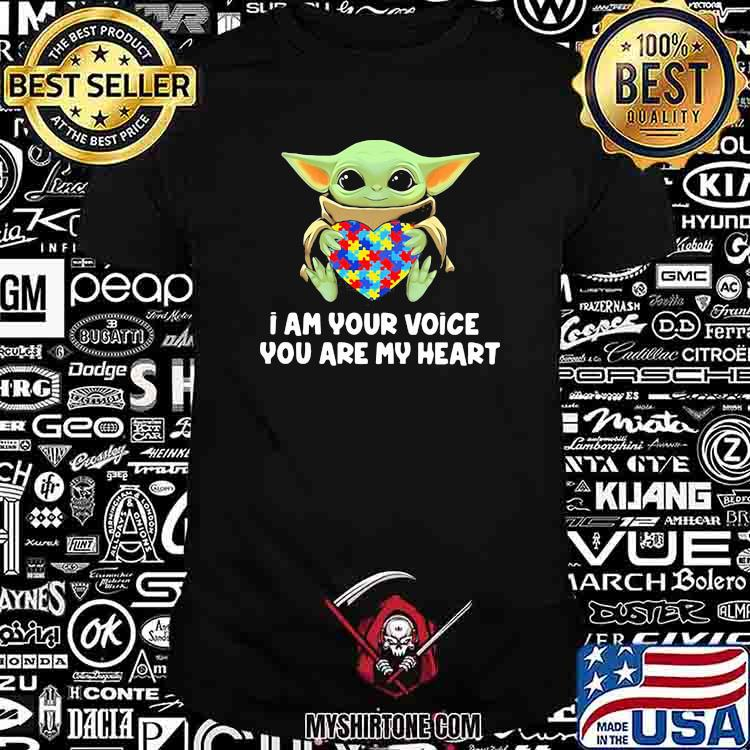 I Am Your Voice You Are My Heart Autism Awareness Baby Yoda Shirt