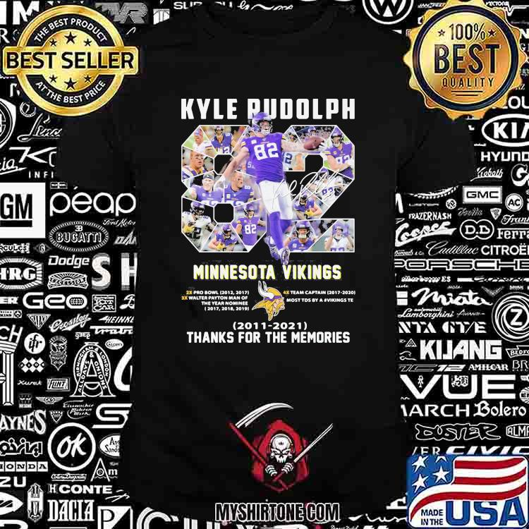 Kyle Rudolph Minnesota Vikings 2011 2021 Thanks For The Memories Shirt