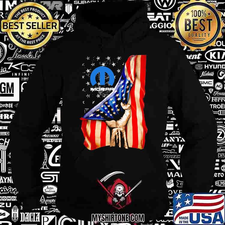 American Flag With Mopar Logo Shirt Hoodie