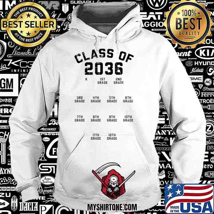 Class Of 2036 Handprint First Day Kindergarten Grow With Me Shirt Hoodie