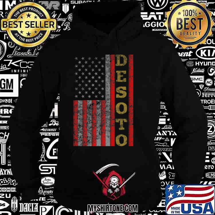 Cool Patriotic Desoto USA US Flag Shirt Hoodie