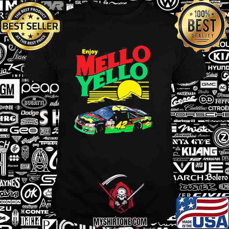 Enjoy Mello Yello Sunset Nascar Kyle Larson Shirt