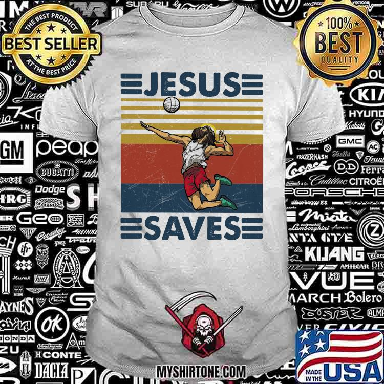 Jesus Saves Volleyball Vintage Shirt