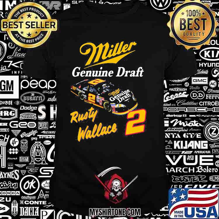 Miller Genuine Draft Rusty Wallace Shirt